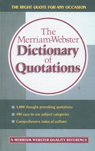 9780606207942: The Merriam-Webster Dictionary of Quotations
