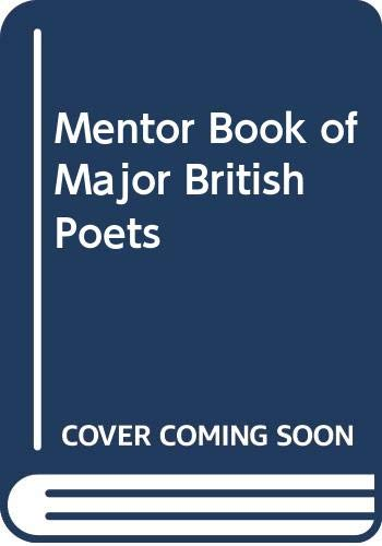 9780606220828: Mentor Book of Major British Poets