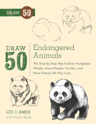 9780606265065: Draw 50 Endangered Animals: The Step-by-step Way to Draw Humpback Whales, Giant Pandas, Gorillas, and More Friends We May Lose