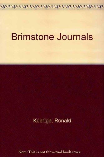 9780606301763: Brimstone Journals