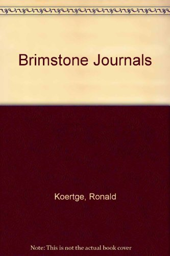 9780606301763: Brimstone Journals