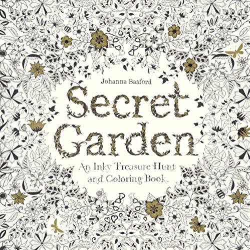 9780606371193: Secret Garden: An Inky Treasure Hunt And Coloring Book (Turtleback School & Library Binding Edition)