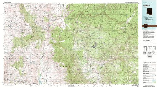 9780607070033: Payson Arizona 1:100,000-scale USGS Topographic Map: 30 X 60 Minute Series (1981)