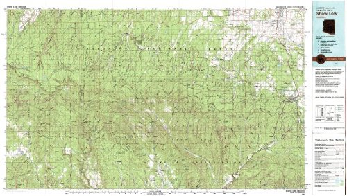 9780607071757: Show Low Arizona 1:100,000-scale USGS Topographic Map: 30 X 60 Minute Series (1981)