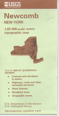 9780607920635: Newcomb New York, 1:25 000-Scale Metric Topographic Map