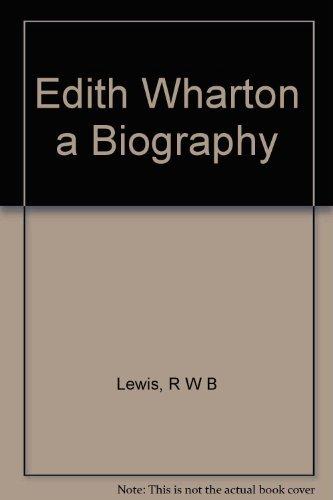 9780609055496: Edith Wharton a Biography
