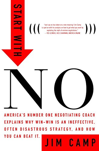 9780609608005: Start with NO...The Negotiating Tools that the Pros Don't Want You to Know