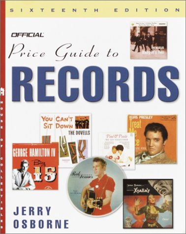 9780609809082: The Official Price Guide to Records, 16th Edition