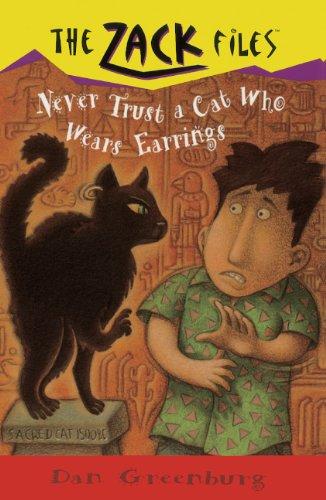Never Trust A Cat Who Wears Earrings (Turtleback School & Library Binding Edition) (Zack Files ...