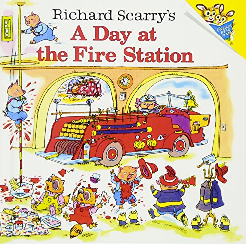 9780613838795: Richard Scarry's A Day At The Fire Station (Turtleback School & Library Binding Edition)