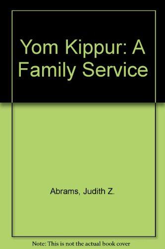 9780613882231: Yom Kippur: A Family Service