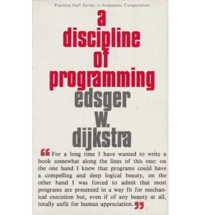9780613924115: A Discipline of Programming (Prentice-Hall Series in Automatic Computation)