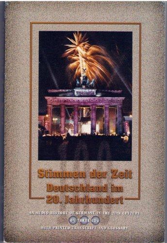9780615115221: Stimmen der Zeit Deutschland im 20. Jahrhundert: Transcript Only