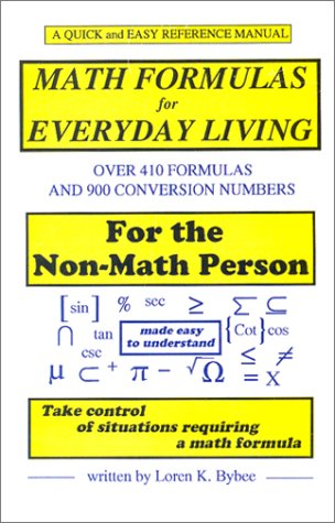 9780615117935: Math Formulas for Everyday Living