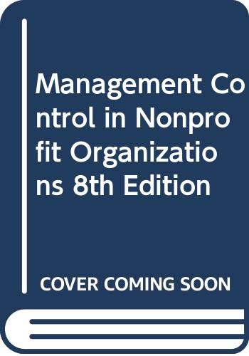 9780615242521: Management Control in Nonprofit Organizations 8th Edition