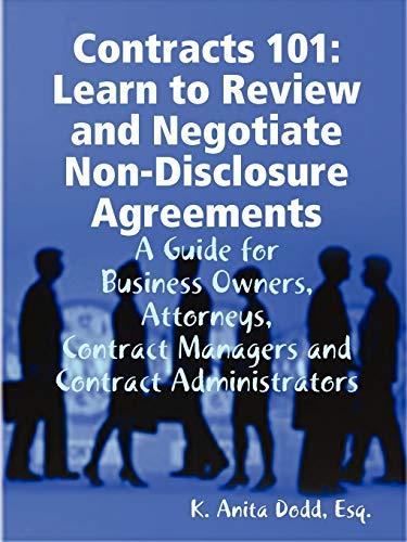 9780615246215: Contracts 101: Learn to Review and Negotiate Non-Disclosure Agreements