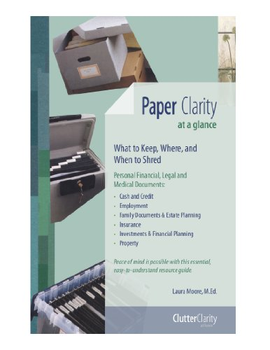 9780615252834: Paper Clarity At a Glance: What to Keep, Where and When to Shred