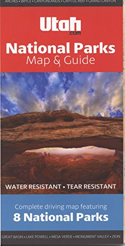 Canyon Country National Parks Map: Grand Canyon, Zion, Bryce Canyon, Arches, Canyonlands, Mesa Verde, Capitol Reef, and Great Basin