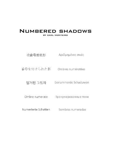 9780615291567: Numbered Shadows (Volume 1)