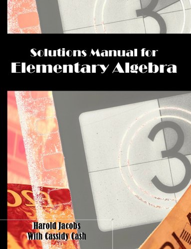 9780615315010: Solutions Manual for Elementary Algebra