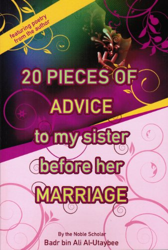 9780615322650: 20 Pieces of Advice to My Sister Before Her Marriage