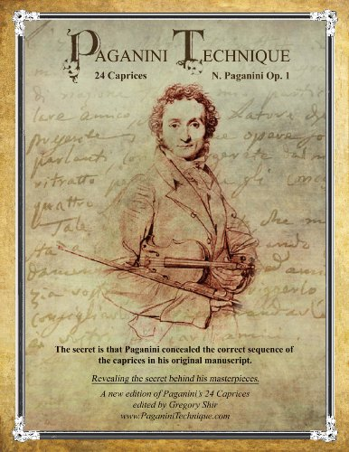 9780615325071: Paganini Technique - 24 Caprices