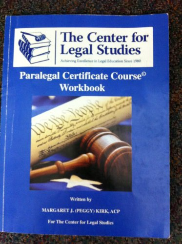 9780615333564: Paralegal Certificate Course Workbook