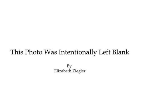 9780615338880: This Photo Was Intentionally Left Blank