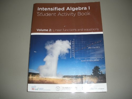 INTENSIFIED ALGEBRA 1 STUDENT ACTIVITY BOOK VOL: Diane Briars, Kathi
