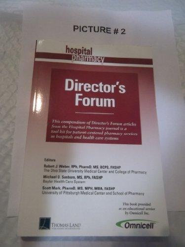 Hospital Pharmacy Director's Forum: n/a