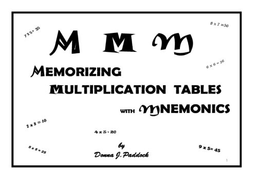 9780615427560: MMM Memorizing Multiplication Tables with Mnemonics