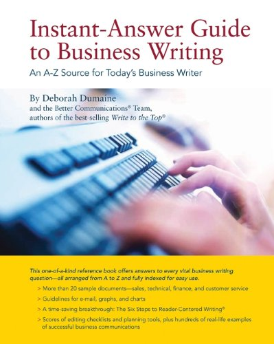 9780615456652: Instant-Answer Guide to Business Writing: An A-Z Source for Today's Business Writer