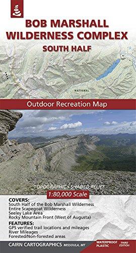 9780615460857: Bob Marshall Wilderness Complex Map: South Half