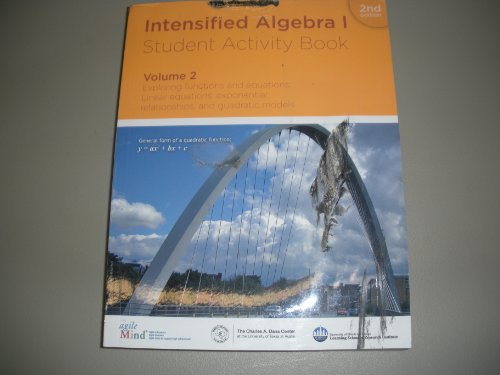 Intensified Algebra I, Student Activity Book, Volume: Diane Briars, Kathi