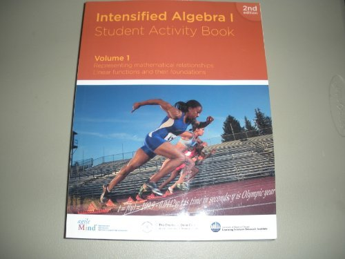 Intensified Algebra I Student Activity Book Volume: Agile Mind, The