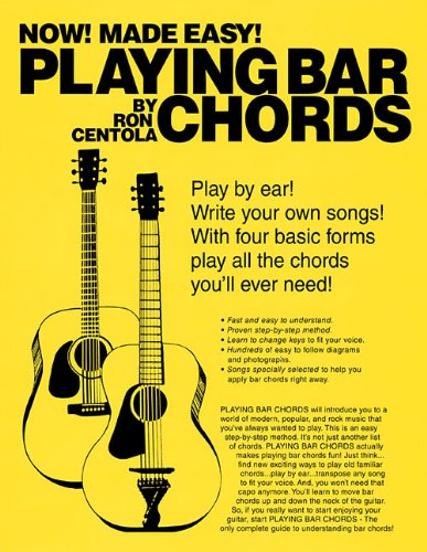 PLAYING BAR CHORDS (0615499481) by Ron Centola