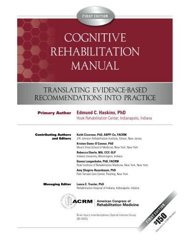 9780615538877: Cognitive Rehabilitation Manual: Translating Evidence-Based Recommendations into Practice (Volume 1)