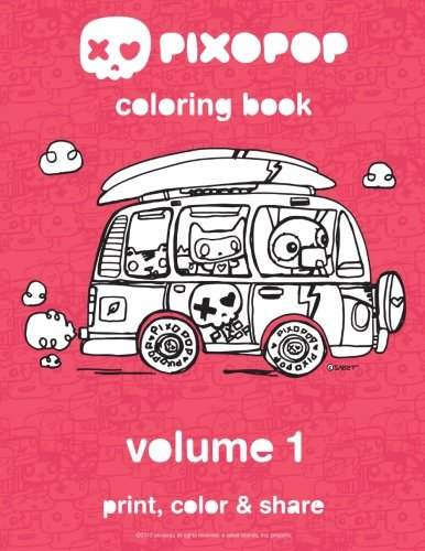 9780615695648: pixopop coloring book | volume 1: 50 unique and adorable pixopop illustrations to color and share with your friends and family