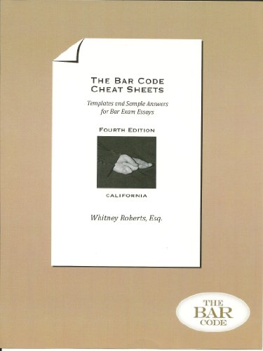 9780615802008: The Bar Code Cheat Sheets : Templates and Sample Answers for Bar Exam Essays