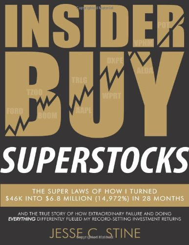 9780615818450: Insider Buy Superstocks: The Super Laws of How I Turned $46K into $6.8 Million (14,972%) in 28 Months