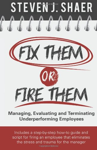 9780615872803: Fix Them or Fire Them: Managing, Evaluating and Terminating Underperforming Employees