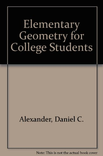 9780618005611: Elementary Geometry for College Students