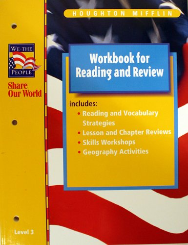 9780618010196: Houghton Mifflin We The People: Reading & Review Workbook