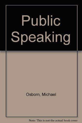 9780618016082: Public Speaking