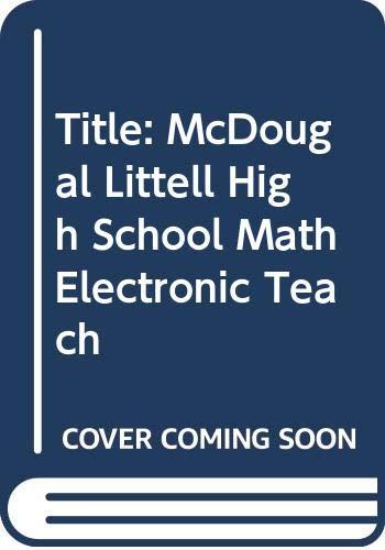 9780618019632: McDougal Littell High School Math: Electronic Teacher Tools CD-ROM Algebra 2