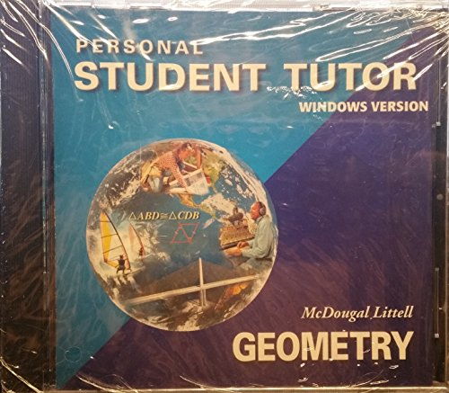 9780618019786: McDougal Littell High School Math: Personal Student Tutor Site License with CD-ROM Geometry