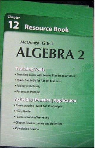 9780618020201: McDougal Littell Algebra 2: Resource Book