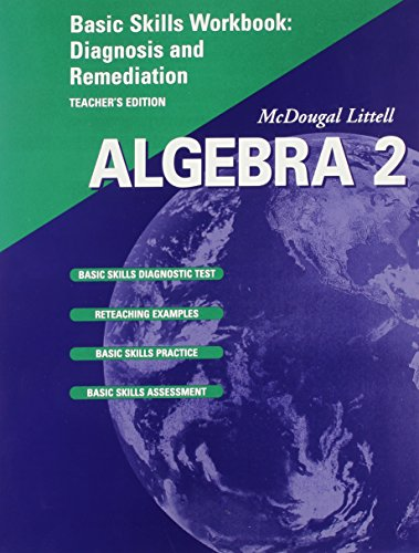 9780618020232: Algebra 2: Basic Skills Workbook Diagnosis and Remediation, Teacher's Edition