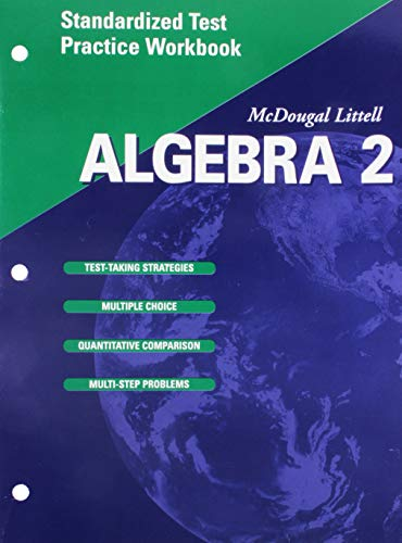 9780618020331: McDougal Littell High School Math: Standardized Test Practice Workbook (Student Edition) Algebra 2