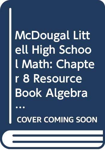 9780618020461: McDougal Littell Algebra 1: Resource Book: Chapter 8